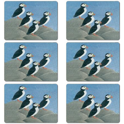 Puffins Tablemat set of 6<br>(Pack of 2)