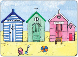 3 Beach Huts Tablemat<br>(Pack of 10)