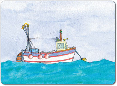 White Trawler Tablemat<br>(Pack of 10)
