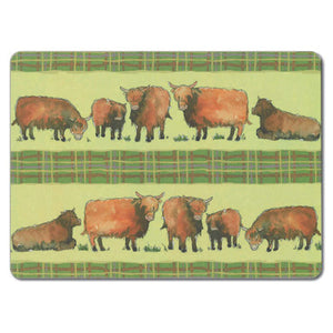 Highland Cows Tablemat<br>(Pack of 10)