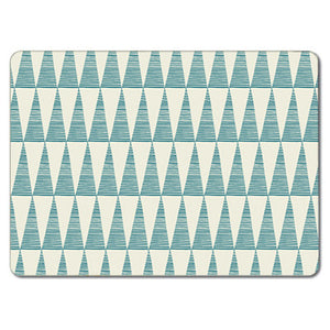 Tall Teal Triangles Rice  Tablemat<br>(Pack of 10)