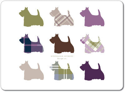Scottie Dog Repeat Tablemats<br>(Pack of 10)