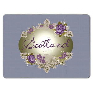 Scotland Purple Floral Tablemats<br>(Pack of 10)