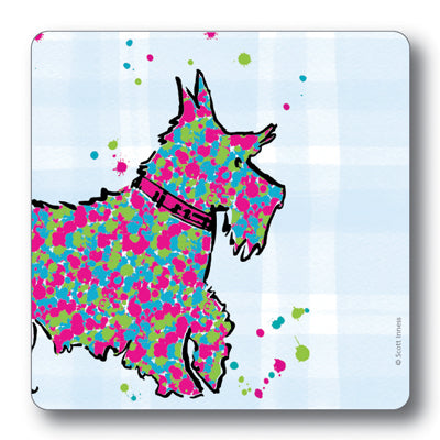 Scottie Dog Tartan Background Tablemat<br>(Pack of 10)