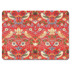 Strawberry Thief Red Tablemat<br>(Pack of 10)