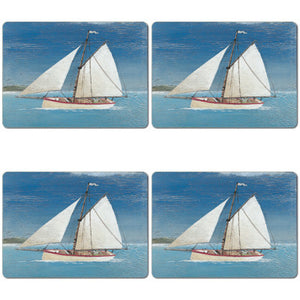 Sail Boat Tablemat set of 4<br>(Pack of 2)