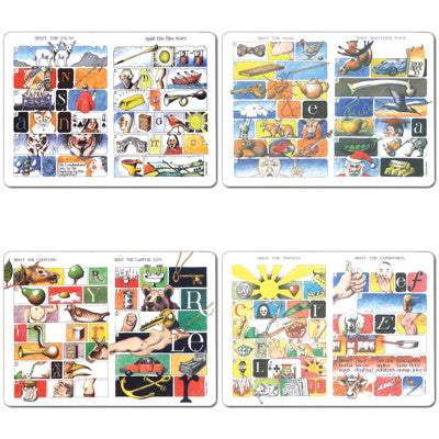 Simon Drew - Tablemat set of 4<br>(Pack of 2)