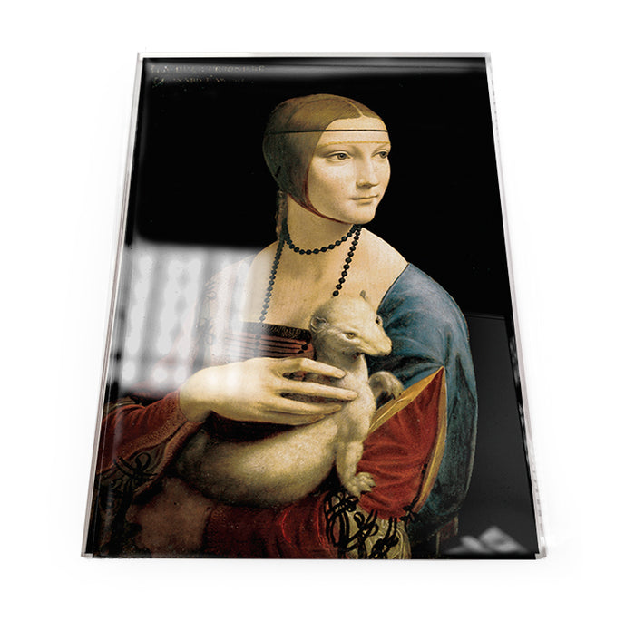 Lady with an Ermine Acrylic Postcard<br>(Pack of 5)