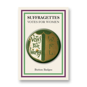 Votes for Women Shield Button Badge<br>(Pack of 20)