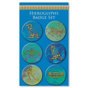 Egyptian Hieroglyphs Badge Set<br>(Pack of 10)