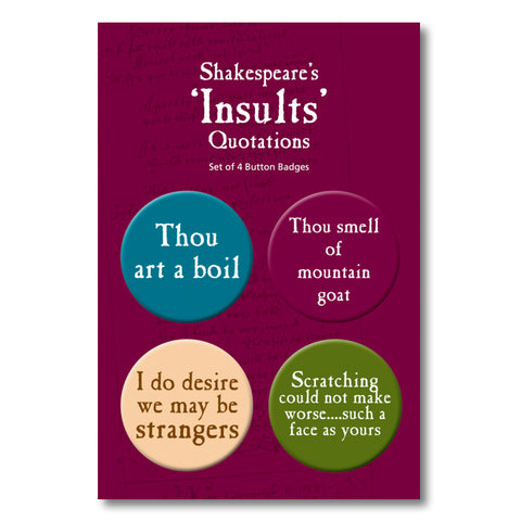 Insults Badge Set<br>(Pack of 10)