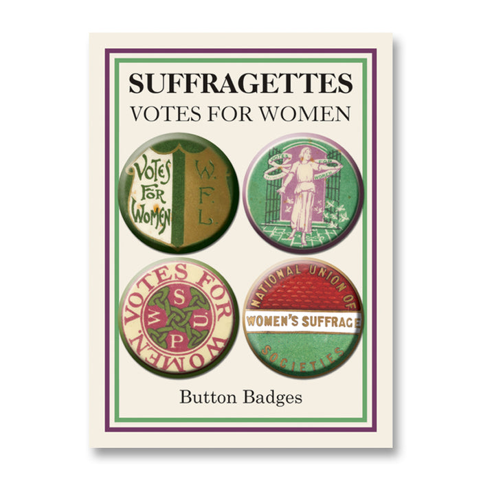 Votes for Women Button Badge Set<br>(Pack of 10)