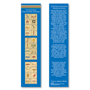 Egyptian Hieroglyphic Alphabet - Bookmark (Pack of 20)