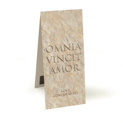 Omnia Vincit Amor (Love Conquers All)  Magnetic Bookmark<br>(Pack of 10)