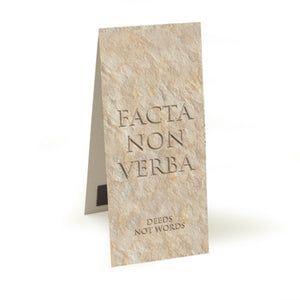 Facta Non Verba (Deeds not Words)  Magnetic Bookmark<br>(Pack of 20)
