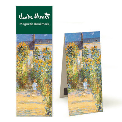 The Artist's Garden at Vetheuil  Magnetic Bookmark<br>(Pack of 10)