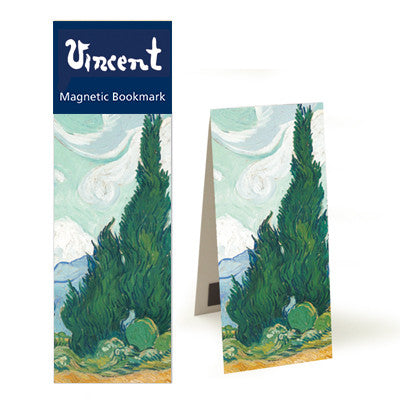 Wheatfield with Cypresses  Magnetic Bookmark<br>(Pack of 10)