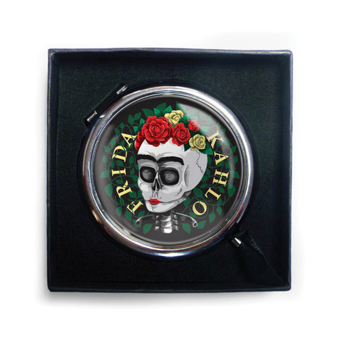 Frida Kahlo Skull Compact Mirror<br>(Pack of 5)