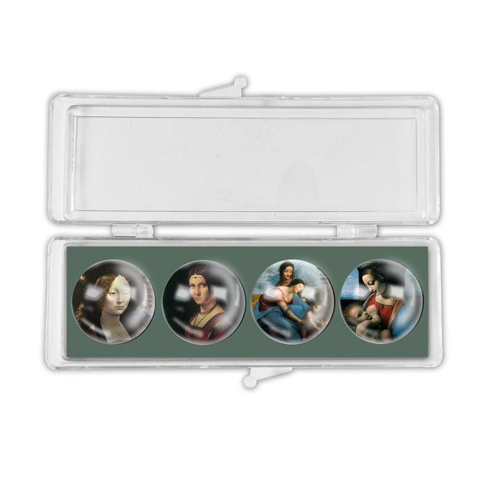 Da Vinci's Ladies Crystal Magnets set of 4<br>(Pack of 5)