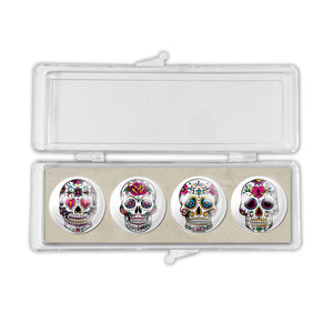 Frida Kahlo Skulls Crystal Magnets set of 4<br>(Pack of 10)