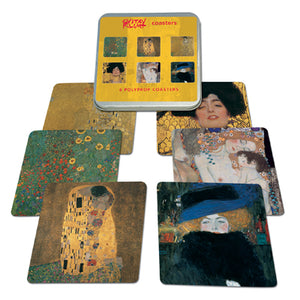 Klimt Coaster set of 6 (Polyprop)<br>(Pack of 5)