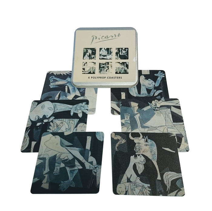 Guernica Coaster set of 6 (Polyprop)<br>(Pack of 5)