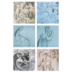 Guernica Sketches Coaster set of 6 (Polyprop)<br>(Pack of 5)