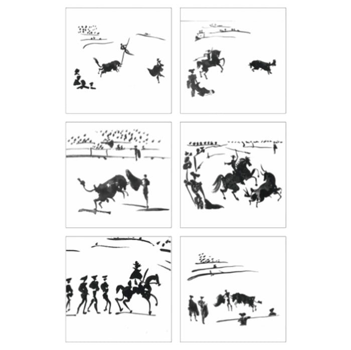 Bullfighting Scene Coaster set of 6 (Polyprop)<br>(Pack of 5)