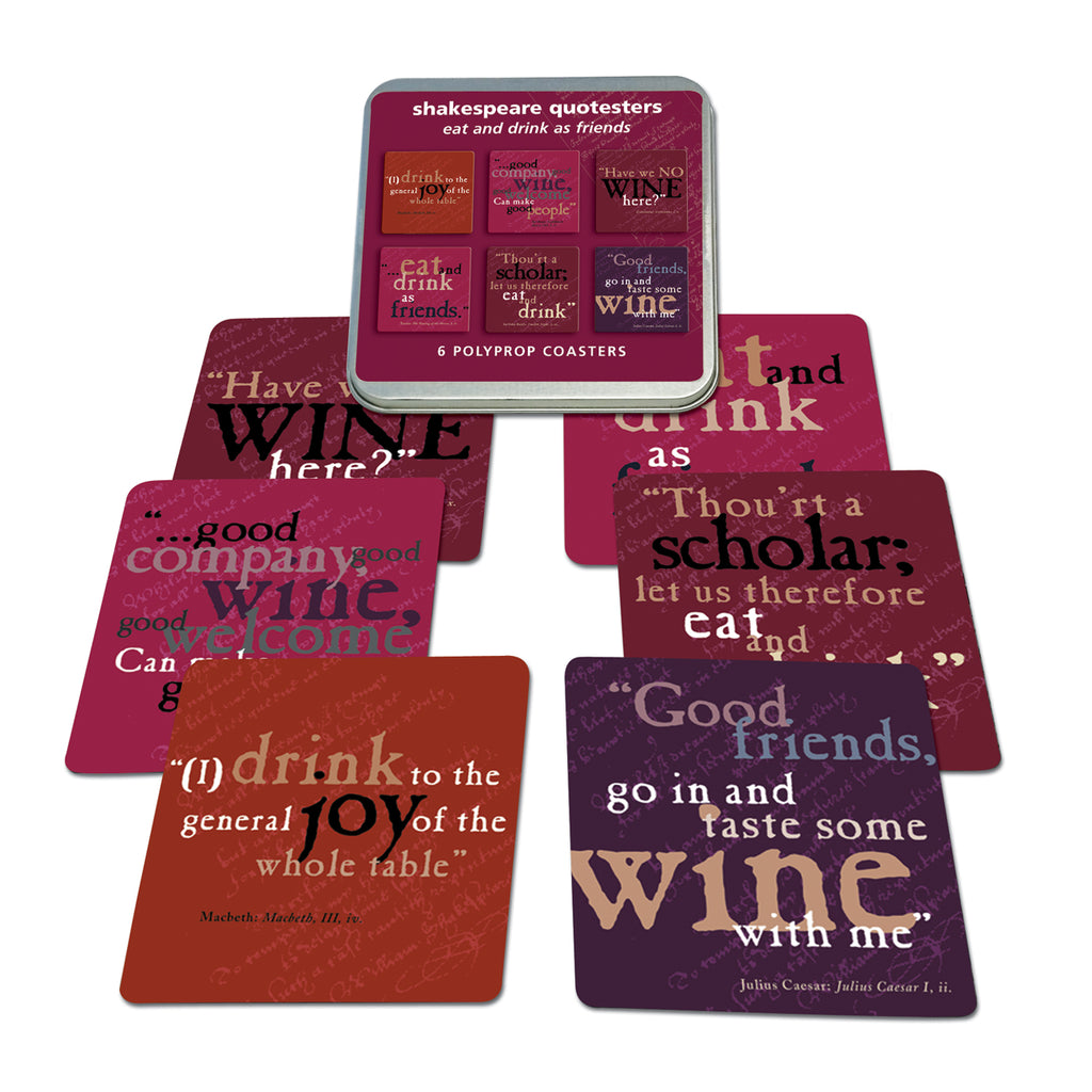 Wine Quotes Polyprop Coaster Set<br>(Pack of 5)