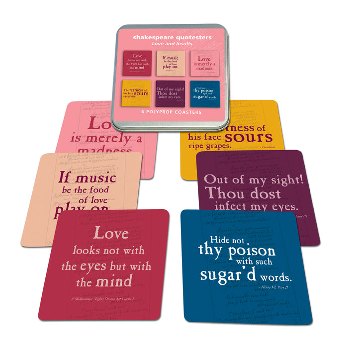 Insults and Love Quotes Polyprop Coaster Set<br>(Pack of 5)