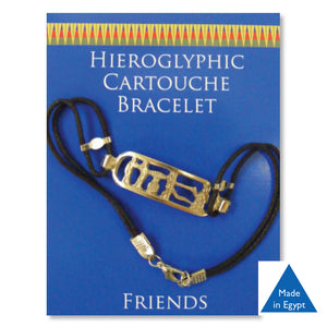 Pewter Hieroglyphic Cartouche Bracelet - Friends<br>(Pack of 5)