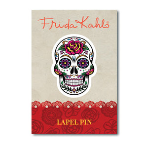 Frida Kahlo Skull Lapel Pin<br>(Pack of 10)