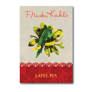 Frida Kahlo Parrot Lapel Pin<br>(Pack of 10)