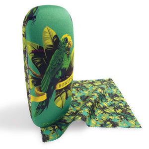 Frida Kahlo Parrot Glasses Case and Lens Cloth<br>(Pack of 5)