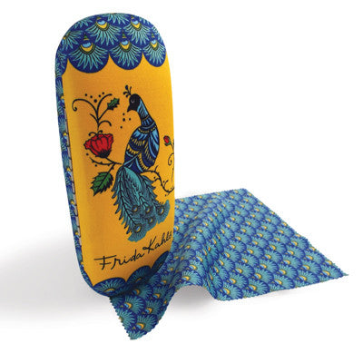 Frida Kahlo Peacock Glasses Case and Lens Cloth<br>(Pack of 5)