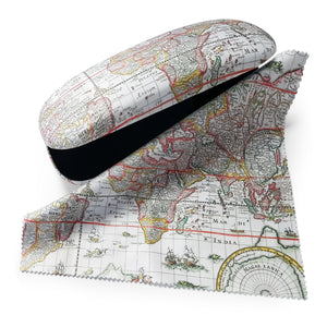 Map of the World Glasses Case and Lens Cloth<br>(Pack of 5)