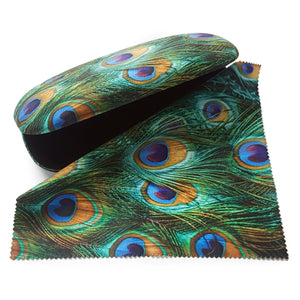 Peacock Feathers Glasses Case and Lens Cloth<br>(Pack of 5)