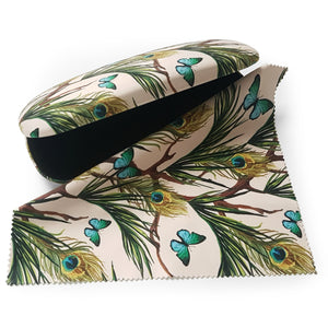 Peacocks and Butterflies Glasses Case and Lens Cloth<br>(Pack of 5)