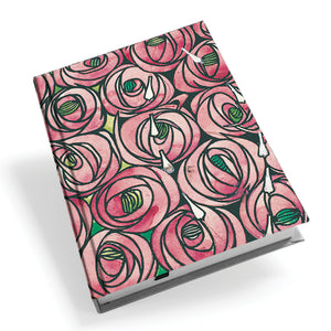 Rose and Teardrop Hardback Journal<br>(Pack of 5)