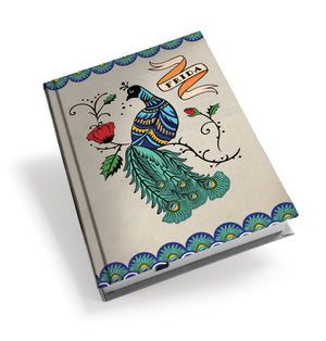 Frida Kahlo Peacock Hardback Journal<br>(Pack of 5)