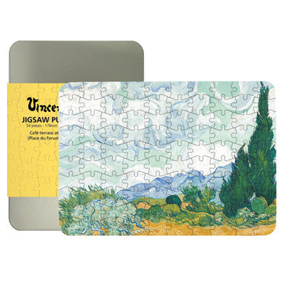 Wheatfield with Cypresses 100-piece Jigsaw Puzzle<br>(Pack of 5)