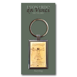 Vitruvian Man Metal Keyring<br>(Pack of 10)