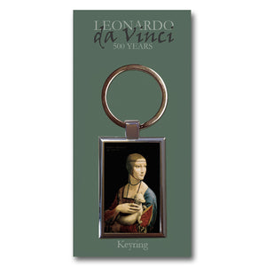 Lady with an Ermine Metal Keyring<br>(Pack of 10)