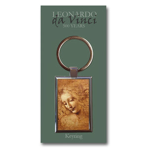 Head of a Young Woman Metal Keyring<br>(Pack of 10)