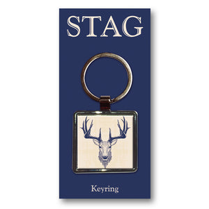 Stag Metal Keyring<br>(Pack of 10)