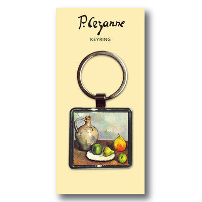 Still Life, Jug and Fruits Metal Keyring<br>(Pack of 10)