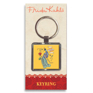 Frida Kahlo Peacock Metal Keyring<br>(Pack of 10)