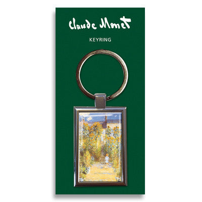 The Artist's Garden at Vetheuil Metal Keyring<br>(Pack of 10)