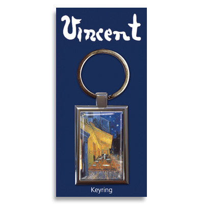 Cafe Terrace at Night Metal Keyring<br>(Pack of 10)