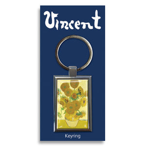 Sunflowers Metal Keyring<br>(Pack of 10)